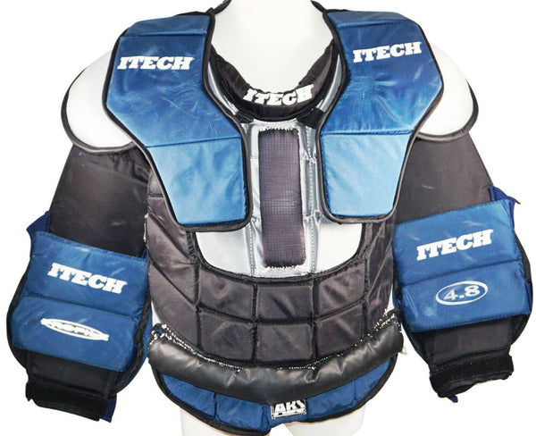 ITECH 4.8 GOAL SENIOR SMALL - GOALIE CHEST & ARM HOCKEY PAD SR PROTECTOR USED - EZ Monster Deals