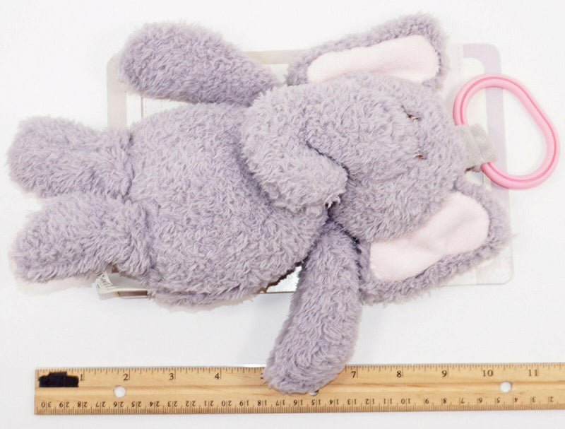 ELEPHANT PLUSH W/ RATTLE & LINK CLIP TOY - SOFT KELLY TOYS STUFFED ANIMAL 2017 - EZ Monster Deals