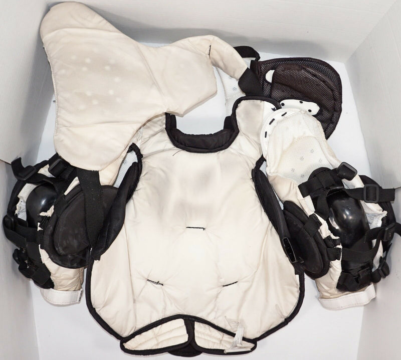 BAUER ONE.9 INTERMEDIATE LARGE GOALIE CHEST & ARM PAD PROTECTOR ICE HOCKEY USED