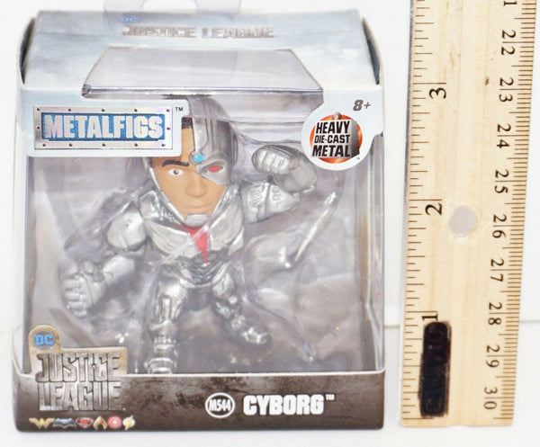 "CYBORG 2.5"" DIECAST TOY FIGURE - METALFIGS FROM JUSTICE LEAGUE MOVIE 2017 NEW"