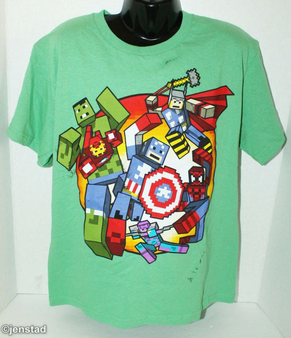 MARVEL AVENGERS KIDS SMALL T-SHIRT CLOTHING CARTOON BLOCK STYLE GRAPHIC TEE 2014 - EZ Monster Deals