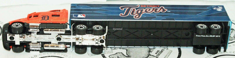 DETROIT TIGERS MLB BASEBALL 1:80 DIECAST TRUCK TRACTOR TRAILER TOY VEHICLE 2012