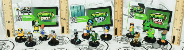 "12 LOT - ZOMBIE BURBZ MINI 1""-1.75"" TOY ACTION COLLECTIBLES APPGEAR FIGURES 2011 - EZ Monster Deals"