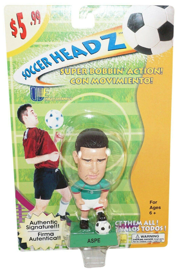 "ALBERTO GARCÍA ASPE TEAM MEXICO SOCCER HEAD FÚTBOL 4"" BOBBLE TOY FIGURE 2002 NEW - EZ Monster Deals"