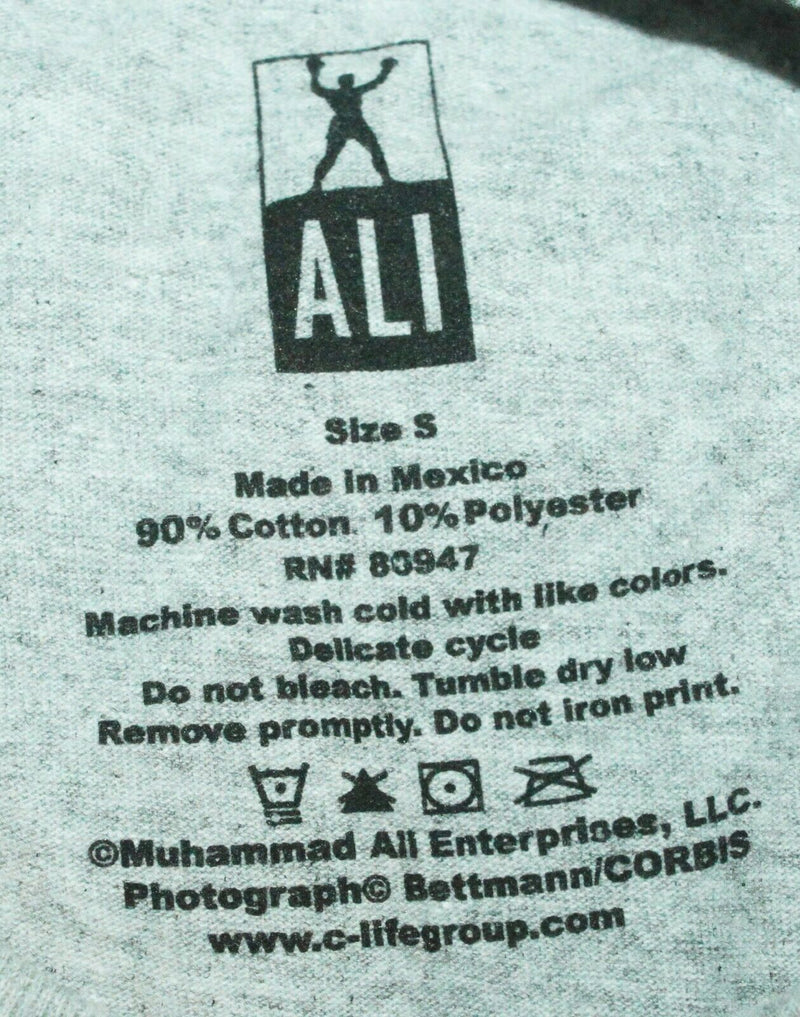 MUHAMMAD ALI KNOCKOUT TAUNT BOXING - SIZE SMALL GREY GRAY SHIRT - FLAWED - EZ Monster Deals