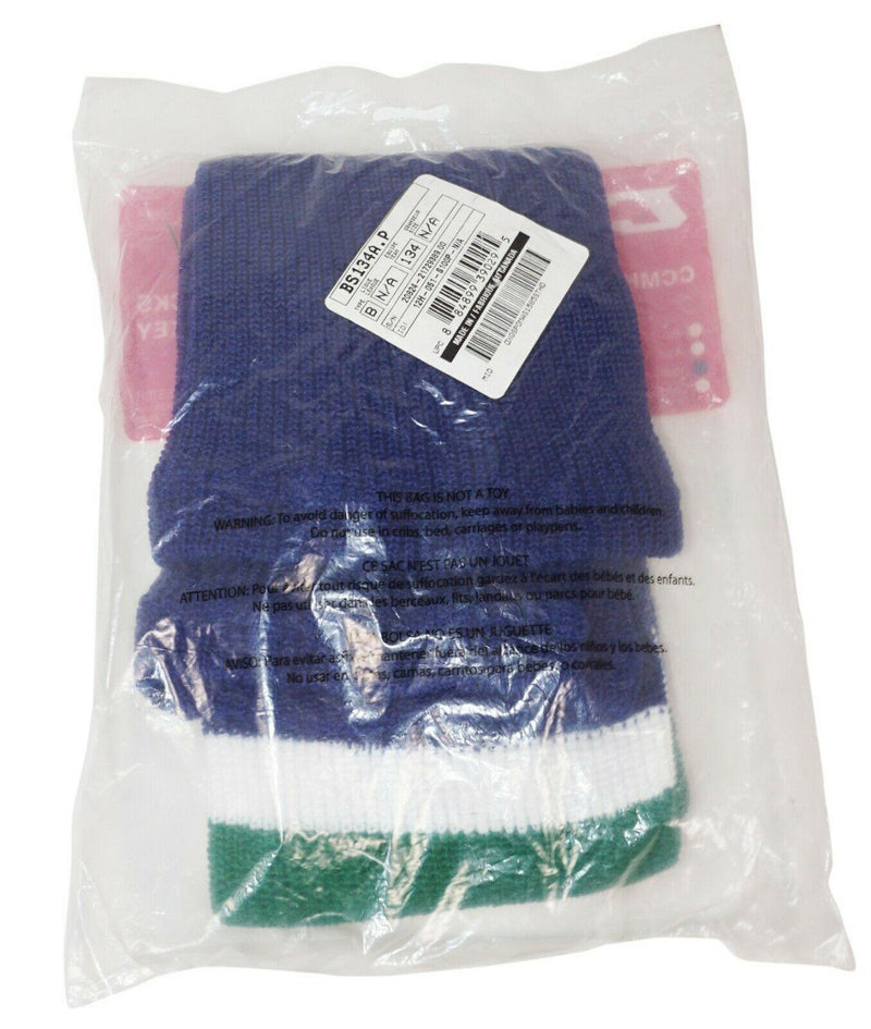 "CCM 24"" JUNIOR YOUTH ICE HOCKEY TEAM SOCKS - KNIT DESIGN BLUE WHITE GREEN NEW - EZ Monster Deals"