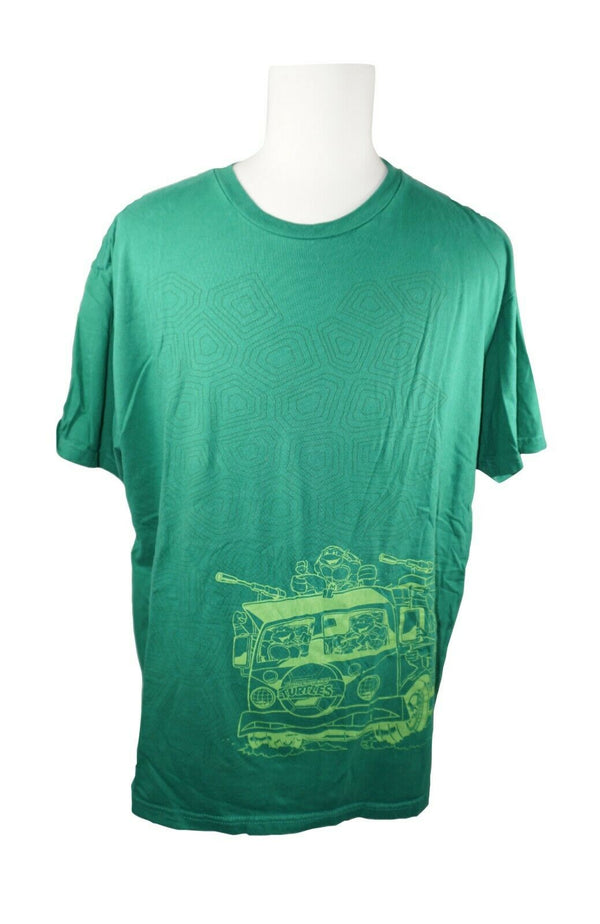 TMNT Teenage Mutant Ninja Turtle Tee Shirt - Short Sleeve Green T-shirt 2XL