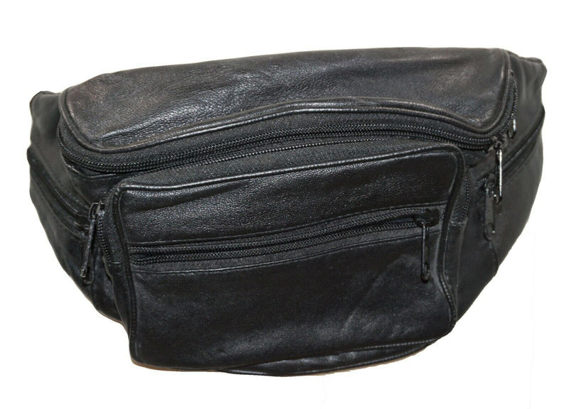 Vintage Toni Leather Fanny Pack for Men or Women - Hip Waist Bag + 6 Pockets