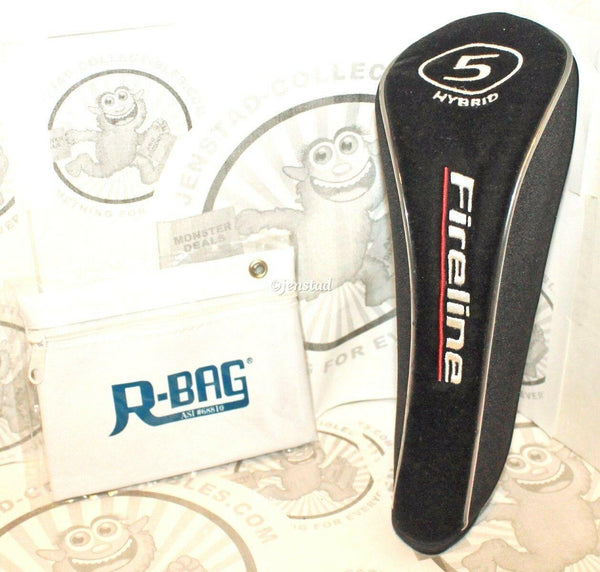 FIRELINE HYBRID #5 CLUB PROTECTIVE COVER GOLF HEADCOVER & R-BAG POUCH USED - EZ Monster Deals