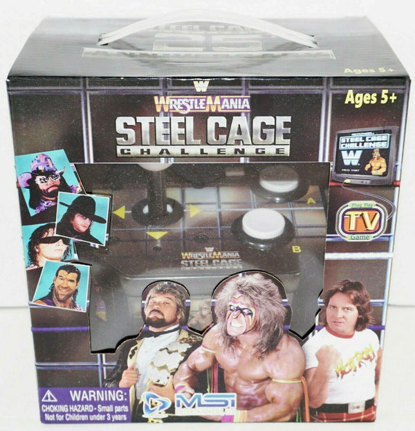 WRESTLEMANIA STEEL CAGE CHALLENGE 25TH ANNV - JOYSTICK RETRO TV PLUG N PLAY GAME - EZ Monster Deals