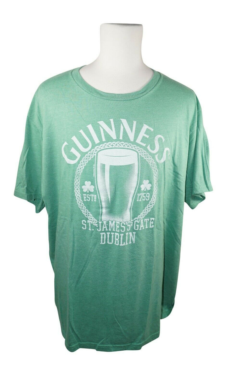 Guinness Beer Tee Shirt - St James Gate Dublin Green Mad Engine T-shirt 2XL