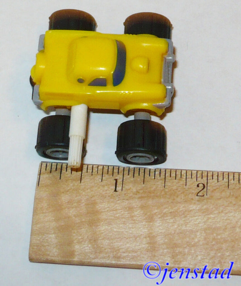 "MCDONALDS YELLOW MINI FORD THUNDERBIRD WIND-UP HAPPY MEAL TOY 1.5"" CAR 2004 USED"