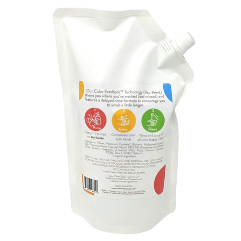 33oz Green Grapefruit Color Feedback™ Hand Soap Refill Pouch - Color Clean