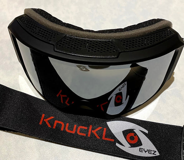 Black Frame / Black and Red Strap Goggles