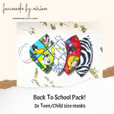 3 Pack Back-To-School Masks