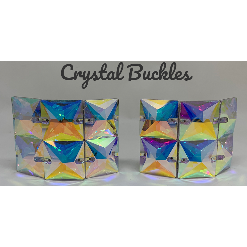 Large Square Crystal Buckles AB