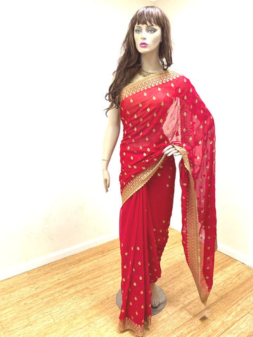 Red and Gold Sari