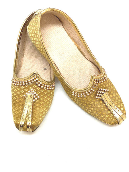 Kis Golden Punjabi Shoes