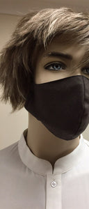Cotton 3 ply mask Black