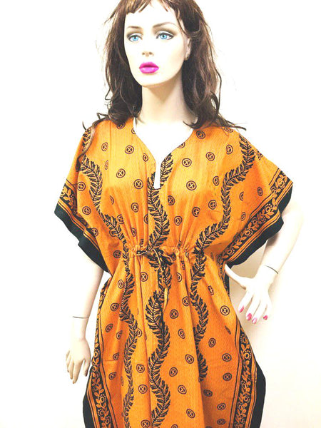 Mustard and Black Womens Cotton Nightie