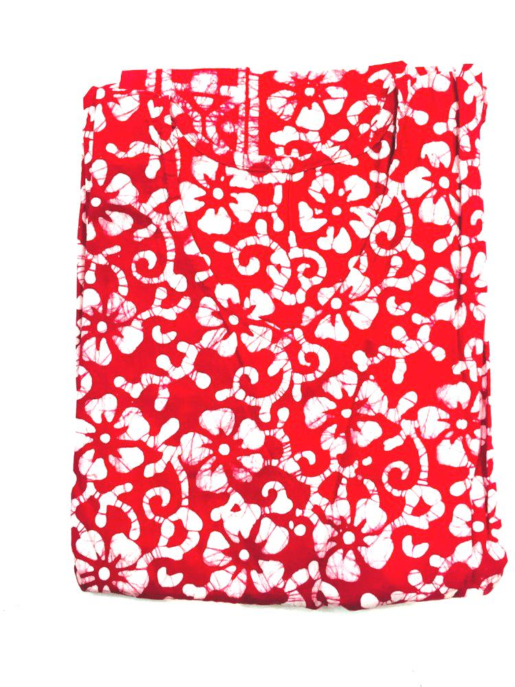 Red Floral Womens Cotton Nightie