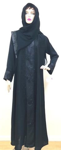 Round Chrystal Lycra Abaya Burkha for Women