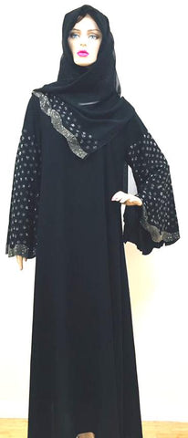 Heavy Sleeve Work Georgette Abaya Burkha for Women
