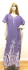 Purple Polka Dots Womens Cotton Nightie
