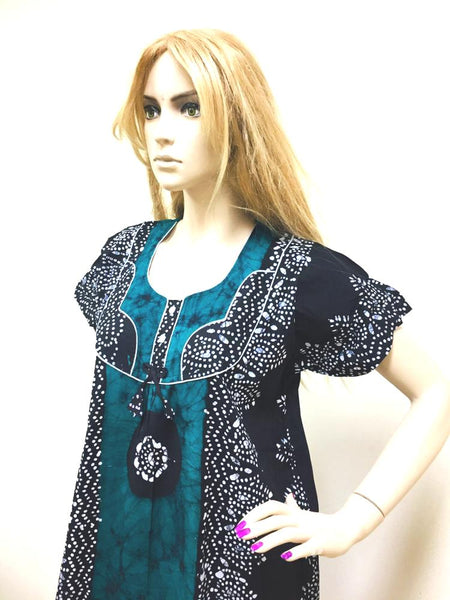 Green and Black Womens Cotton Nightie