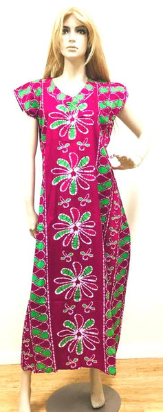 Hot Pink and Green Womens Cotton Nightie