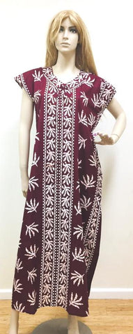 Maroon Womens Cotton Nightie