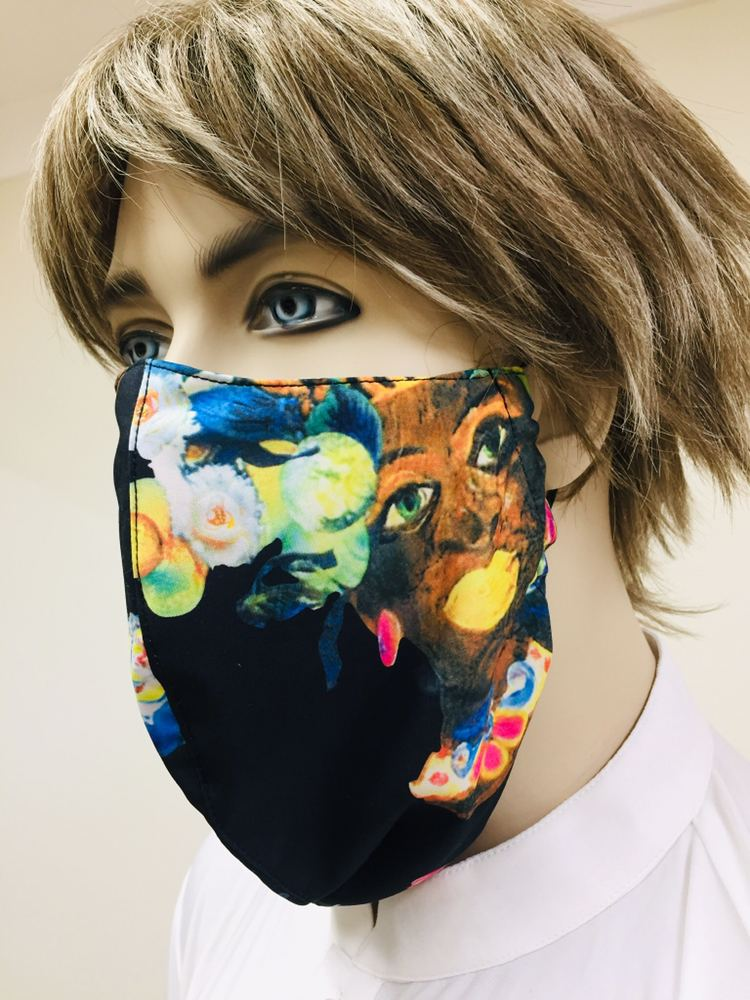 Cotton 3 ply Printed Beard Mask