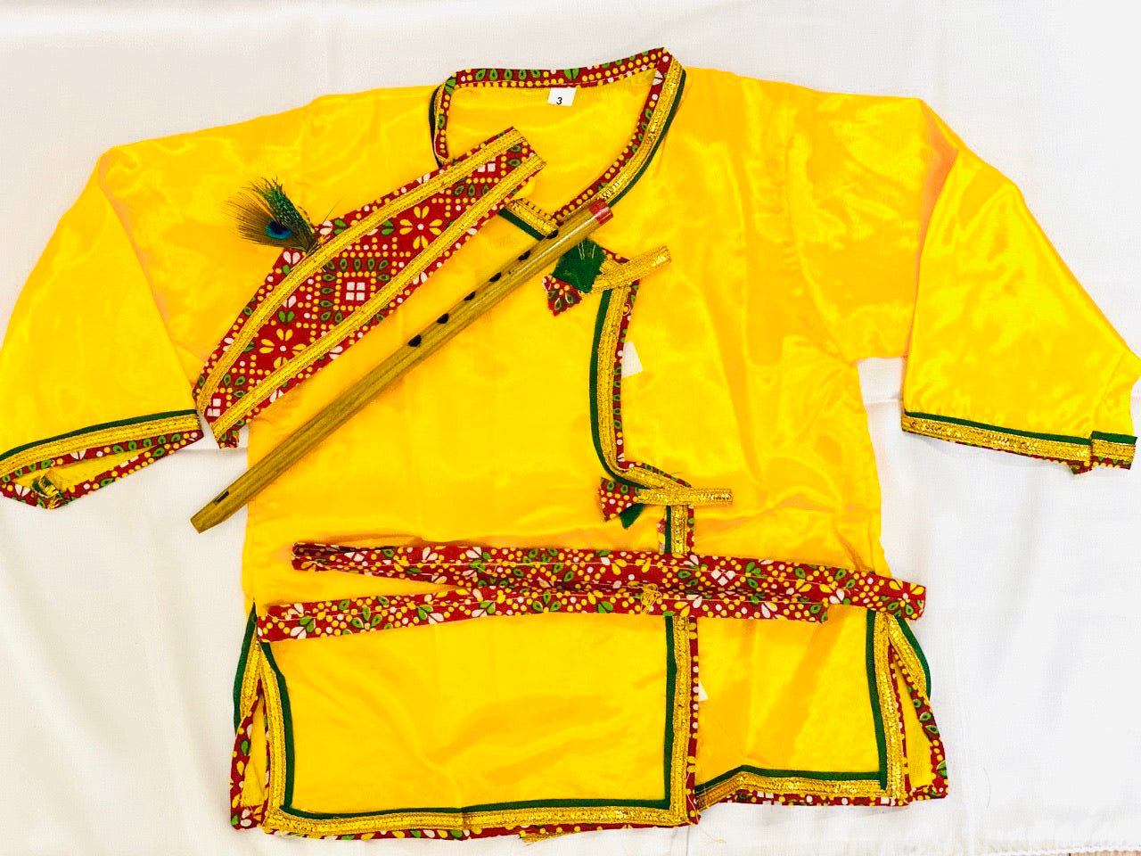 Krishna Costume Kids Yellow