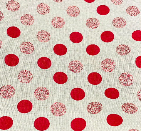 Cotton 3 ply mask Red Polka Dots