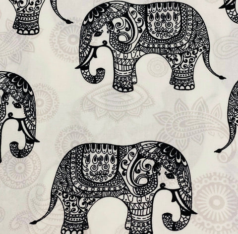 Cotton 3 ply mask Elephant (white wash)