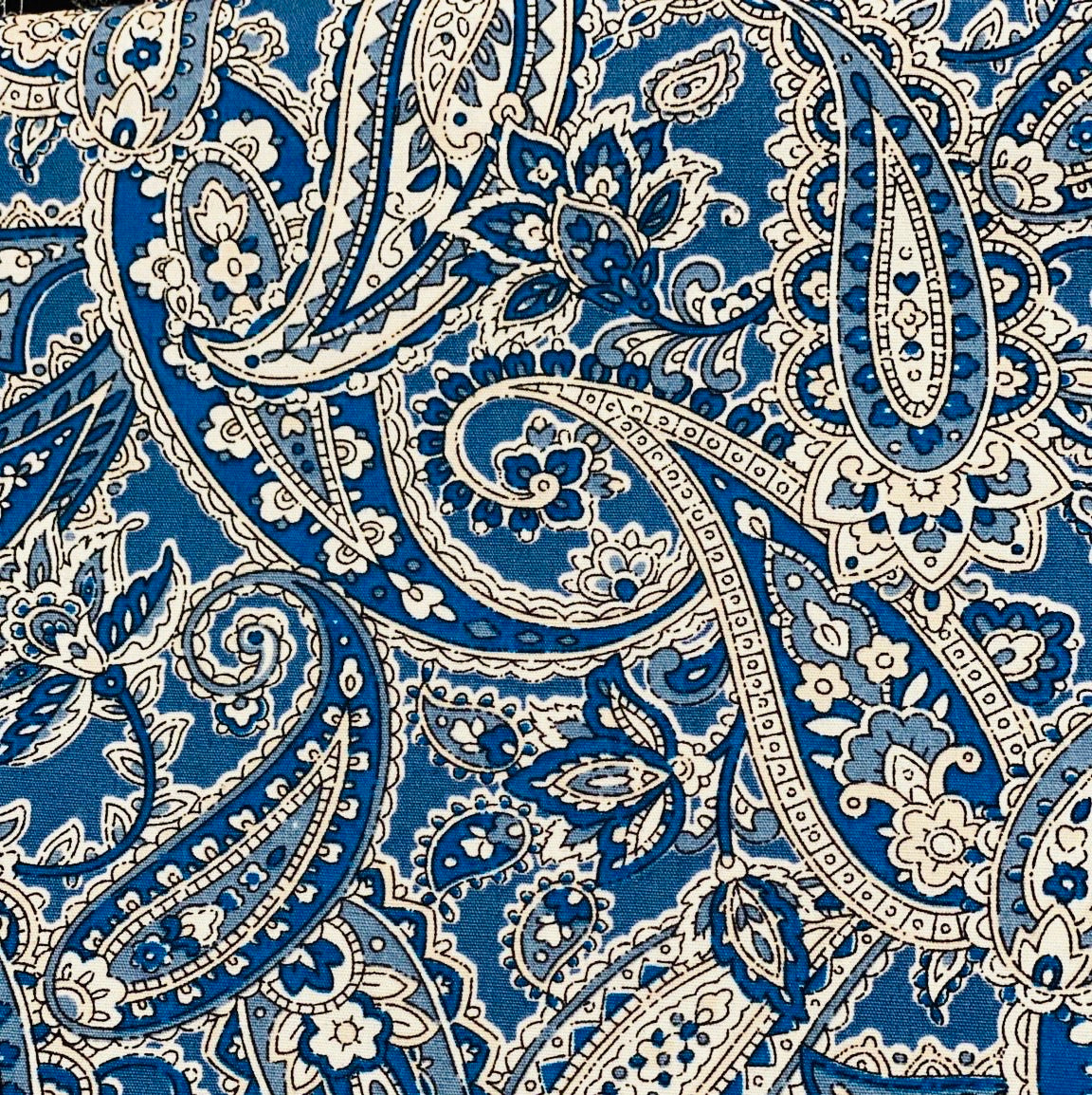 Cotton 3 ply mask Blue Paisley