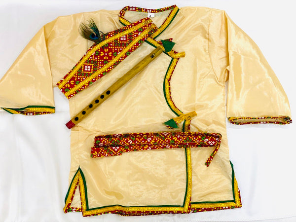 Krishna Costume Kids Golden Cream