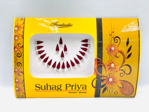 Fancy Bindi Maroon round