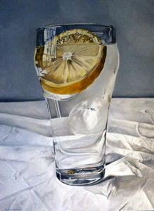 Ice Water and Lemon painting by Tobin Sprout