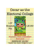 Load image into Gallery viewer, Oscar as the Electoral College Enamel Pin