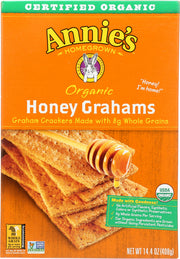 ANNIE'S HOMEGROWN: Organic Graham Crackers Honey, 14.4 oz