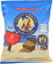 PIRATE'S BOOTY: Aged White Cheddar Snacks Rice and Corn Puffs, 6 Count