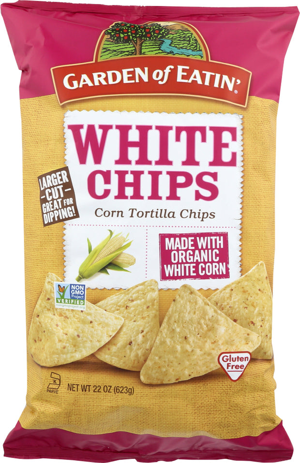GARDEN OF EATIN: Chip Tortila White Fiesta Organic, 22 oz