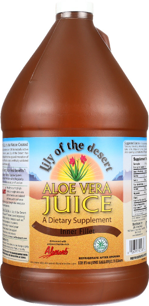 LILY OF THE DESERT: Aloe Vera Juice Inner Fillet, 128 oz