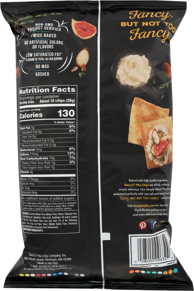 STACYS PITA CHIP: Simply Naked Pita Chips, 18 oz