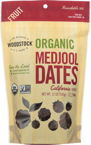 WOODSTOCK: Dates Medjool Organic, 12 oz