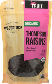 WOODSTOCK: Raisins Thompson Organic, 13 oz
