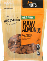 WOODSTOCK: Almonds Raw Organic, 7.5 oz