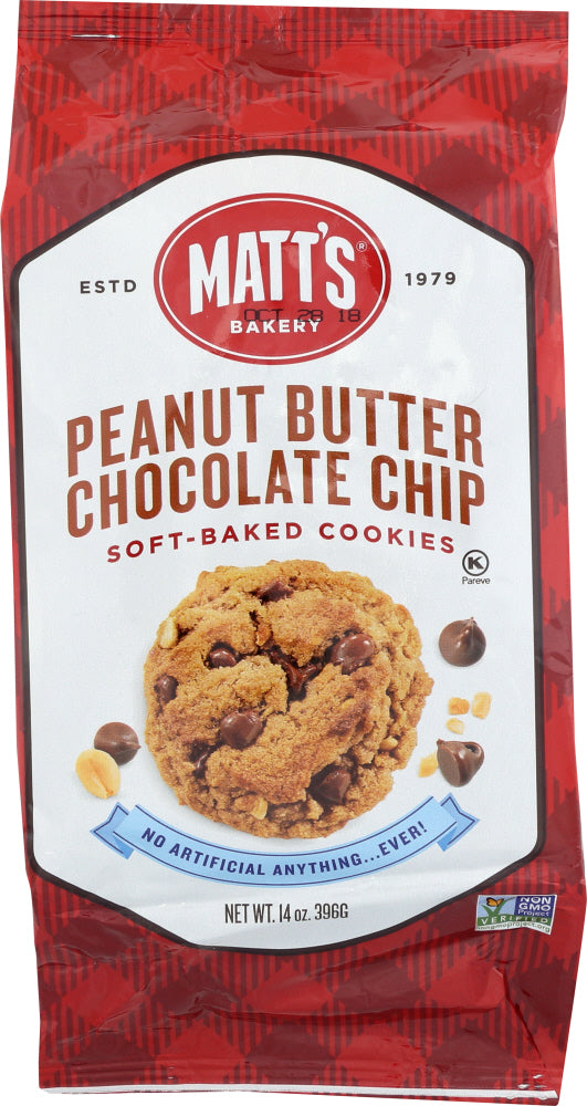 MATTS COOKIES: Cookies Chocolate Peanut Butter, 14 oz