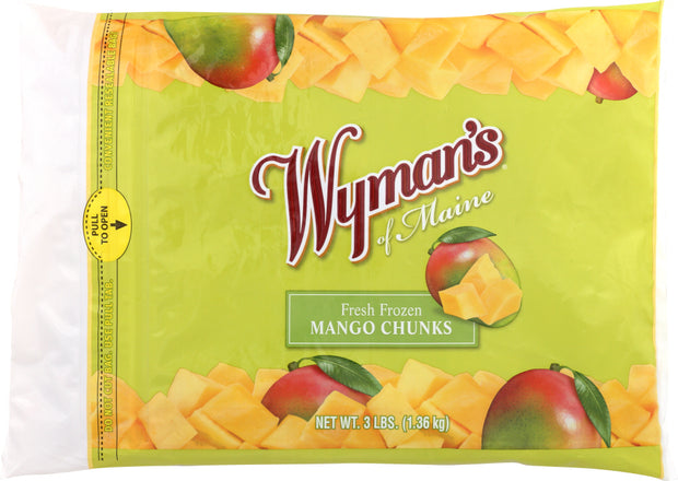 WYMANS: Fresh Frozen Mango Chunks, 3 lb